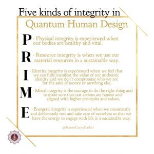 Five kinds of Intergrity - PRIME
